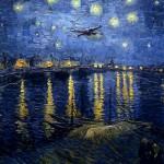 Noche estrellada sobre el Ródano, de Van Gogh