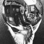 'Mano con esfera reflectante', de MC Escher