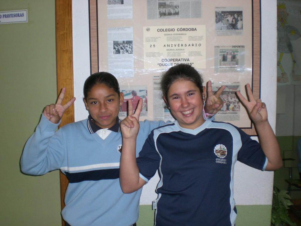 Karol J. Arciniegas y Carmen González 4ºB