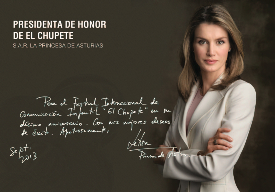 Reina Letizia el chupete