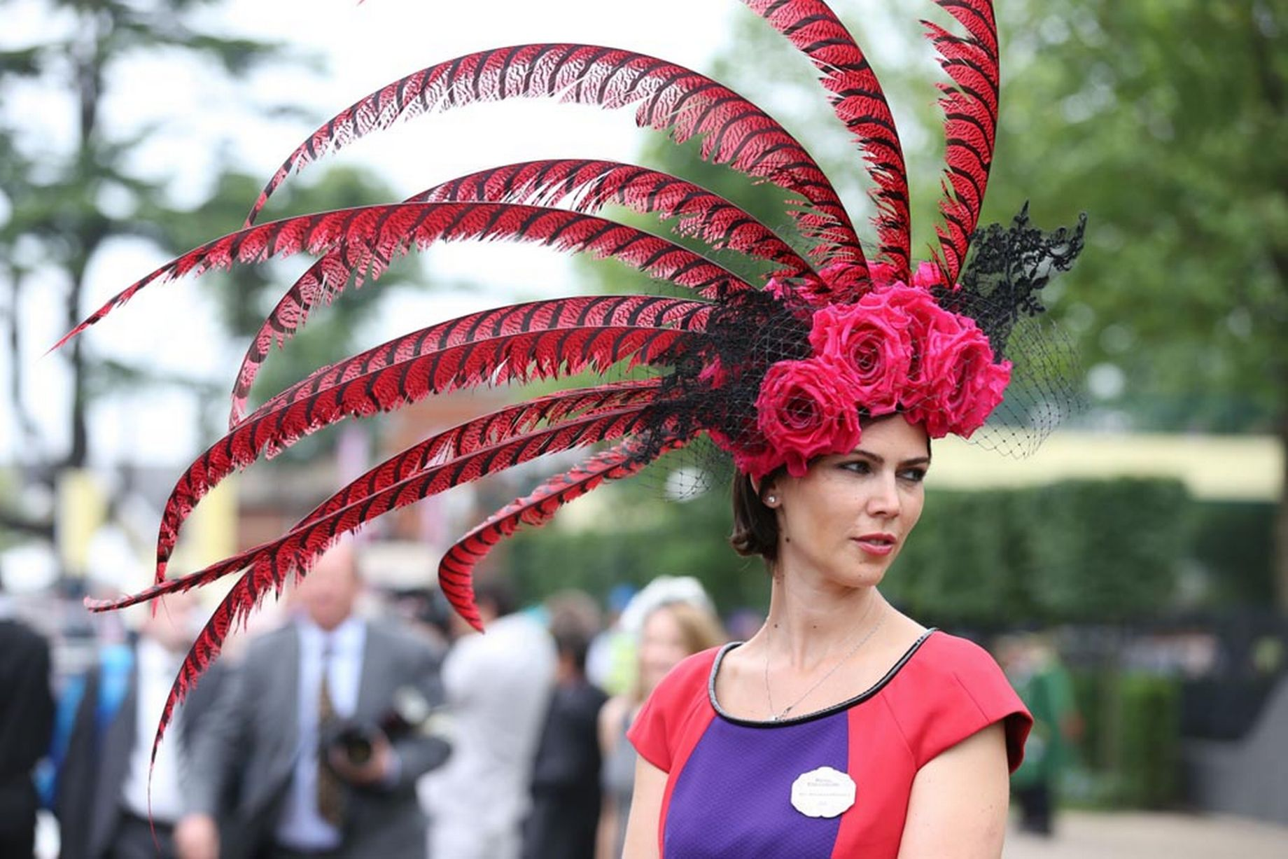 c38e349bcac74 Racegoer Larisa Katz during Ladies  Day at Royal Ascot