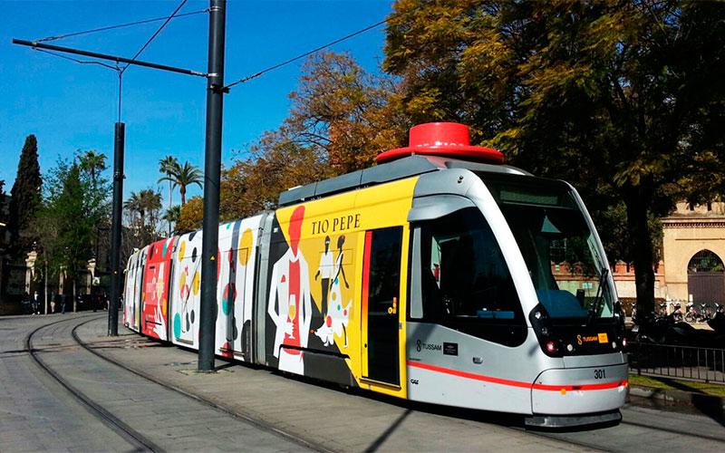 Tio-Pepe-tranvía-Sevilla