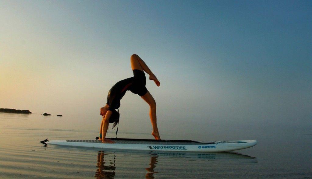 El gancho. SUP yoga
