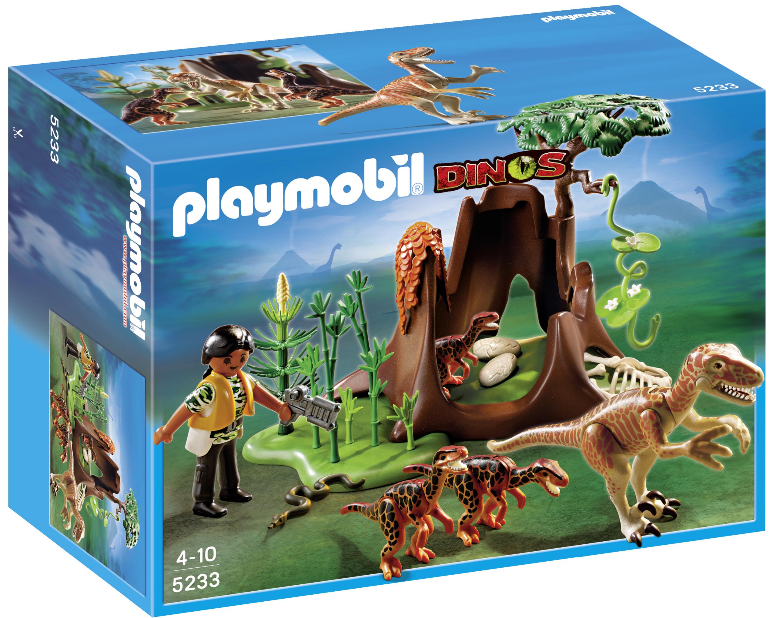 Ll vate los velociraptors con exploradora de playmobil for Playmobil dinosaurios