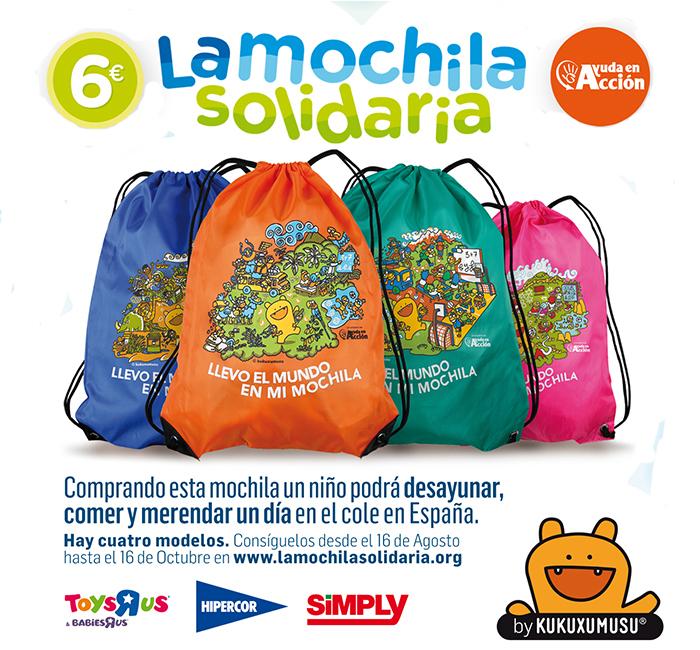 Cortinilla Mochila Solidaria Ayuda en Acción