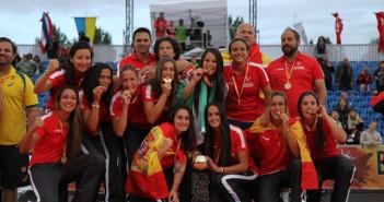 El Gancho. Campeonas del mundo de balonmano playa