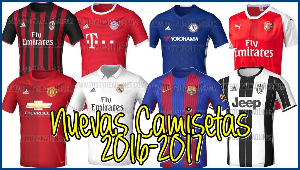 El Gancho. Nuevas camisetas futbol 2016-17