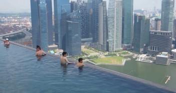 El Gancho. Piscina Marina Bay Sands