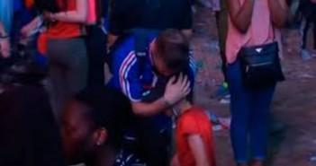 El gancho. abrazo-entre-aficionado-frances-nino-portugues-tras-final-eurocopa
