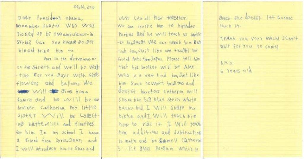 Carta de Alex a Obama1