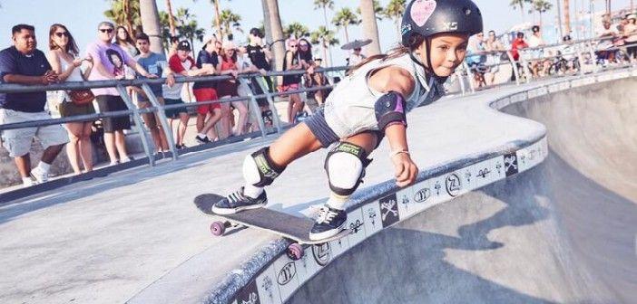 Con 8 años, ¡la nueva reina del skate!