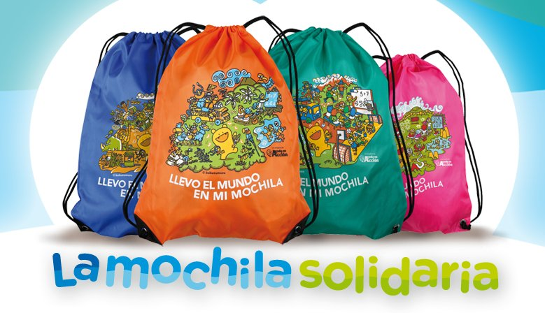 La mochila solidaria de Wedu