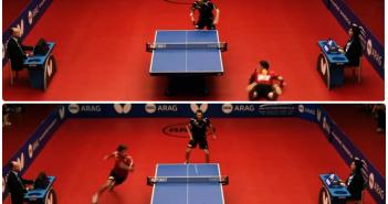 el mejor unto de la historia del ping pong