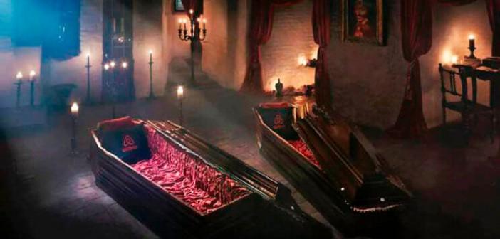 Drácula abre sus puertas para dormir en su castillo…