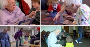 Ancianos y niños en seattle