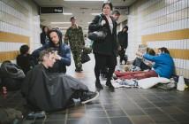 El peluquero de los sin techos