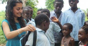 Mochila solar para los niños de africa