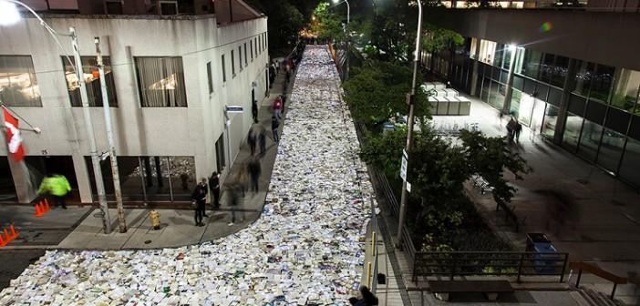 ¡Una calle con 10.000 libros!