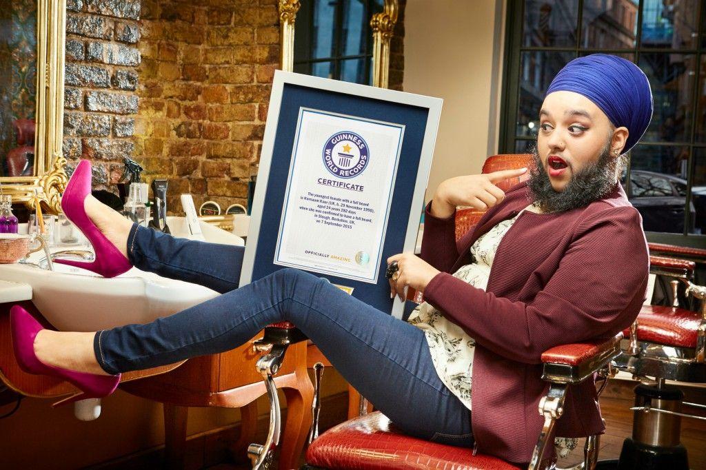 Record Guinness mujer con barba