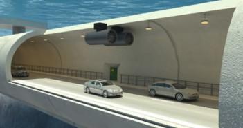 una autopista bajo el agua