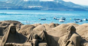 Belen de arena mas grande del mundo en las canteras