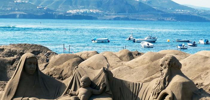 El Belén de arena más grande del mundo
