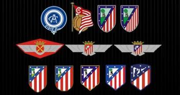 Evolucion del escudo del atletico de madrid
