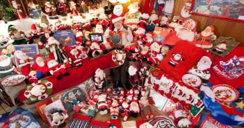 La colección más grande de objetos de Papa Noel