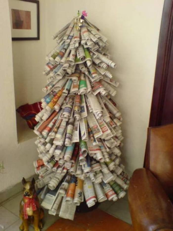 Como Decorar Un Arbol De Navidad Con Cosas Recicladas