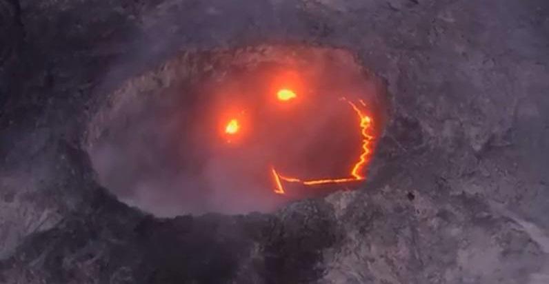 El volcan que sonrie
