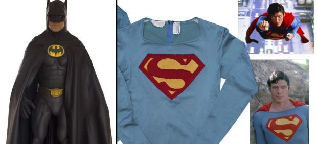 Los trajes auténticos de Batman y Superman a subasta