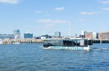 El autobús anfibio-HafenCity-RiverBus