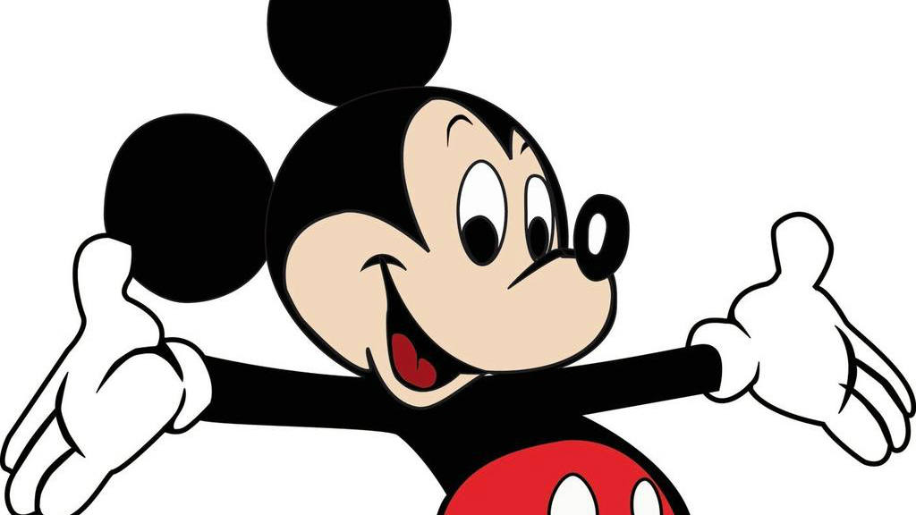 Mickey con guantes blancos