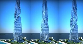 El primer rascacielo giratorio