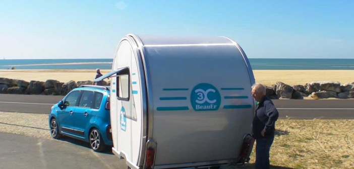 ¡Una caravana plegable!