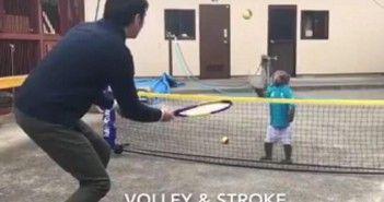 El mono que juega al tenis