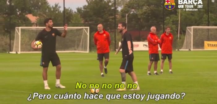 La divertida discusión de Messi, Suárez y Neymar