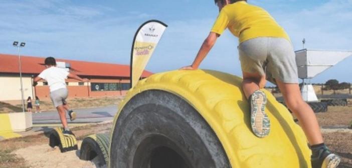 Un parque de neumáticos para generar electricidad