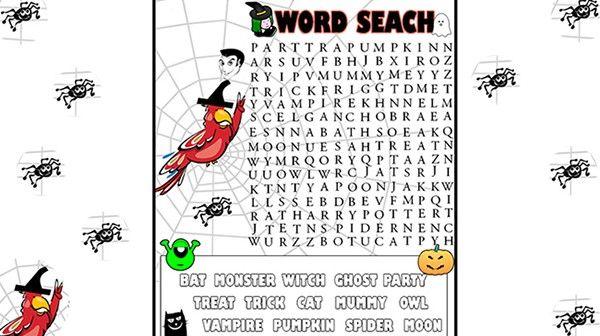 ¡Llega la sopa de letras más terrorífica!