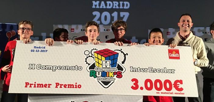 ¡El colegio Marista La Merced campeones de España del cubo Rubik!