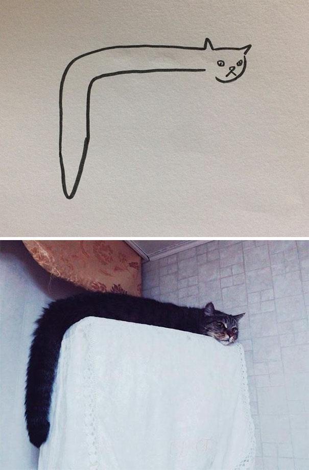 Dibujos-abstractos-y-divertidos-de-gatos(6)