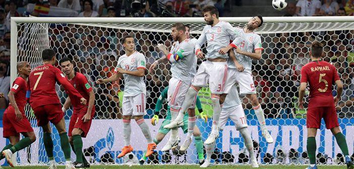 ¡España y Portugal empatan!