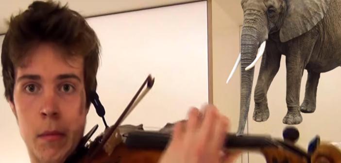 Los sonidos de la naturaleza con un violín