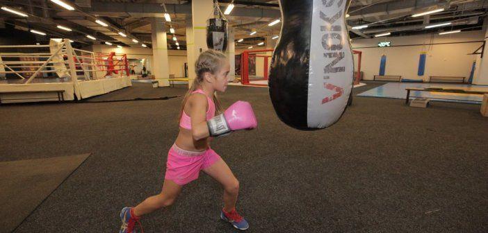 Boxeadora con 10 años